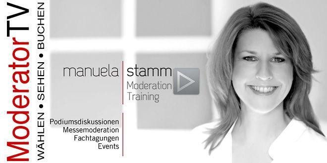 Manuela Stamm Moderatorin Podiumsdiskussion :: Video-Länge 3:24 Minuten - Podiumsdiskussion.org